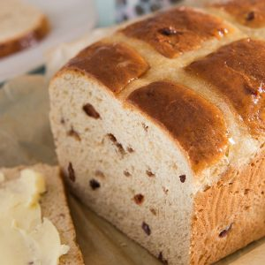 Date and Toffee Hot Cross Bun Loaf Recipe | Carr's Flour