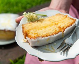 Elderflower and Lemon Drizzle Loaf Cake Recipe | Carr's Flour