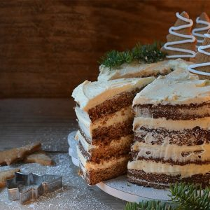 Gingerbread Layer Cake with Cinnamon Frosting | Christmas Recipe