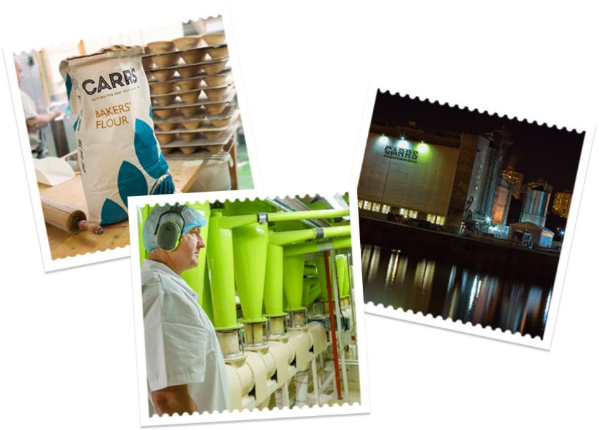 three factory images | Carr's Flour