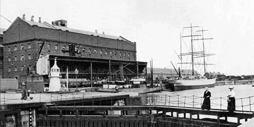 Old photo of Silloth docks