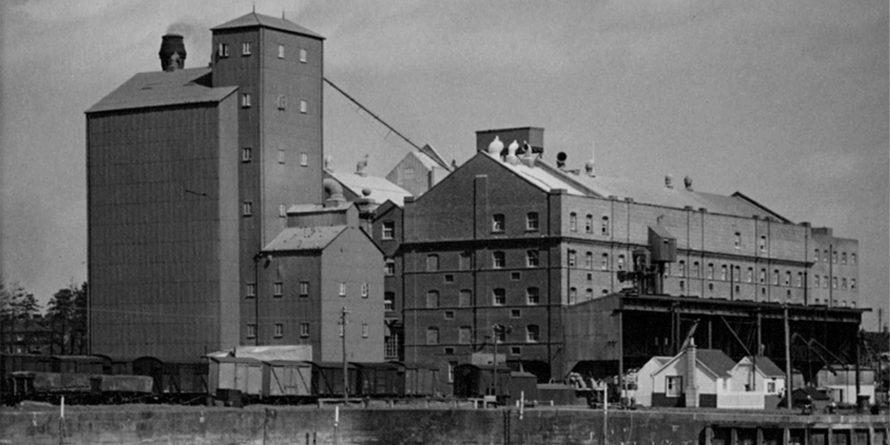 Old photo of Carr's Flour Mill, UK