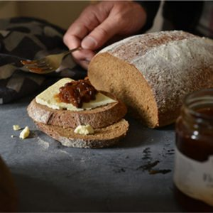 bread, cheese and relish
