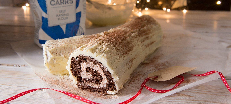 White Yule Log Recipe | Carr's Flour